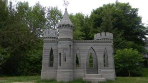 تصویر قلعه با پرینت سه بعدی ساختمان
