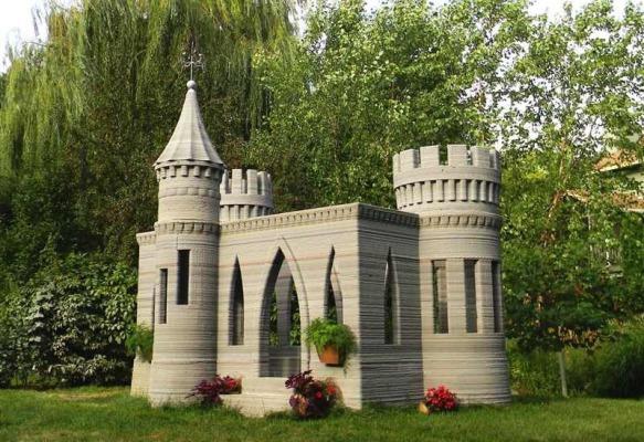 ایجاد یک قلعه با پرینت سه بعدی ساختمان