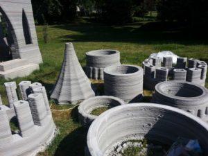 قلعه ساخته شده با پرینت سه بعدی ساختمان