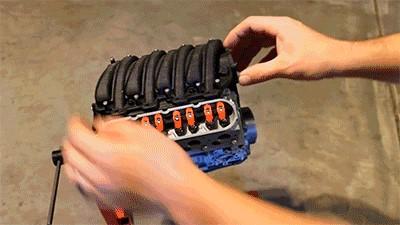 طرز کار پرینت سه بعدی قطعات موتور شورلت