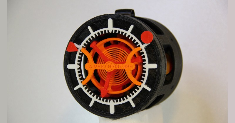 استفاده از فناوری پرینت سه بعدی در ساخت ساعت جیبی