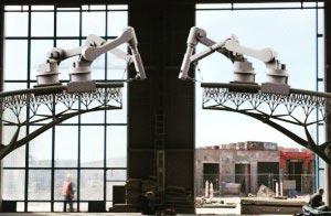 ربات پرینتر سه بعدی برای ساخت پل